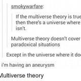 Multiverse theory.