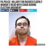 Hillary Fan Bashed Elderly Womans Head