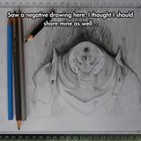 Negative drawing